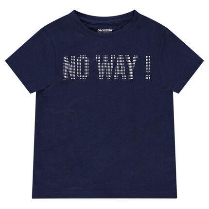 Tee-shirt manches courtes en jersey avec message printé