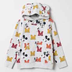 Sweat à capuche en molleton imprimé Mickey Disney all-over
