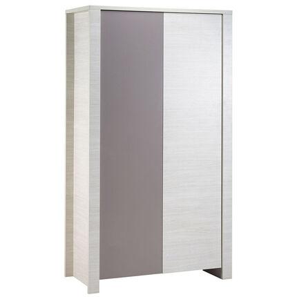 armoire opale taupe sans d cor 2 portes orchestra fr. Black Bedroom Furniture Sets. Home Design Ideas
