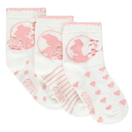 Lot de 3 paires de chaussettes Disney Princesses