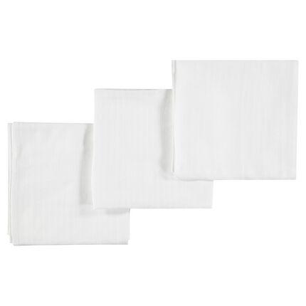 Set de 3 langes en coton 70 x 70 cm