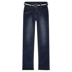 Junior - Jeans slim effet used avec ceinture amovible