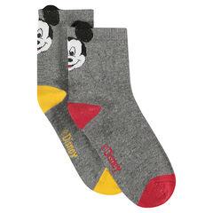 Lot de 2 paires de chaussettes avec ©Disney Mickey et oreilles en relief