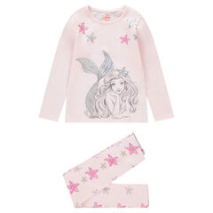 Pyjama long en jersey avec print Ariel ©Disney et fleurs