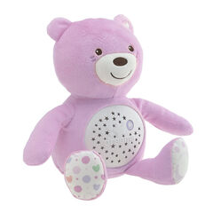 Ourson projecteur First Dreams Baby Bear - Rose