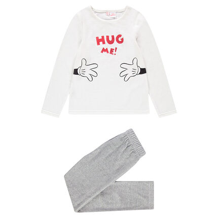 Pyjama en velours avec print message et Mickey ©Disney