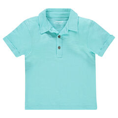 Junior - Polo manches courtes en jersey uni