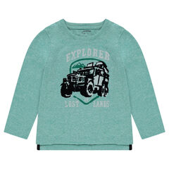 Tee-shirt manches longues en jersey avec print 4x4