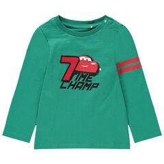 T-shirt manches longues en coton bio print Cars Disney