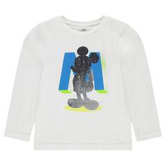 Tee-shirt manches longues en jersey Disney avec print Mickey