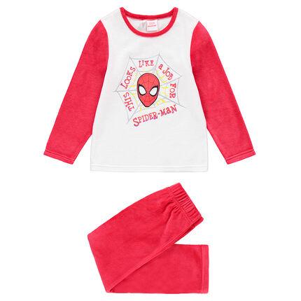 Pyjama en velours bicolore avec print ©Marvel Spiderman