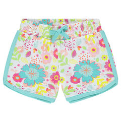 Short en jersey avec imprimé fantaisie all-over