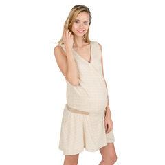 Robe de grossesse sans manches avec taille élastiquée