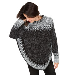 Pull de grossesse en tricot forme poncho
