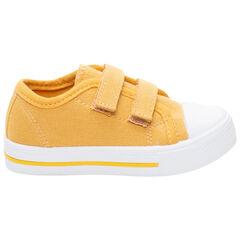 Baskets jaunes en toile à scratchs du 24 au 35
