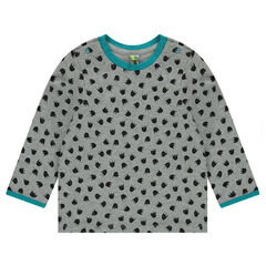 Tee-shirt manches longues imprimé all-over