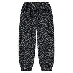 Pantalon fluide avec imprimé fleuri all-over