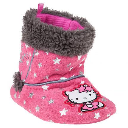 6ee6d3d0de0 Chaussons bottines fausse fourrure avec patch Hello Kitty - Orchestra FR