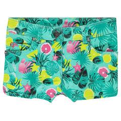 Short en twill imprimé tropical