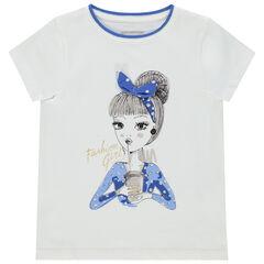 T-shirt manches courtes à personnage printé et bandeau en relief , Orchestra