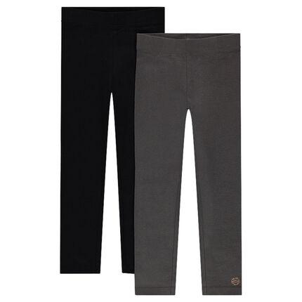 Junior - Lot de 2 leggings en jersey avec logo printé