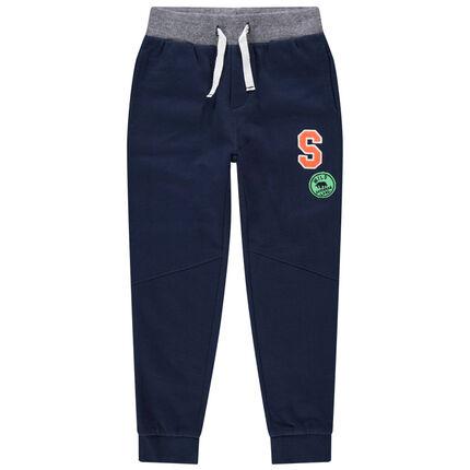 Pantalon de jogging en molleton à badges patchés
