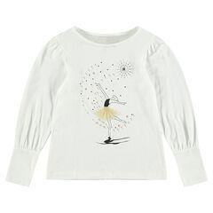 Tee-shirt manches longues avec danseuse printée
