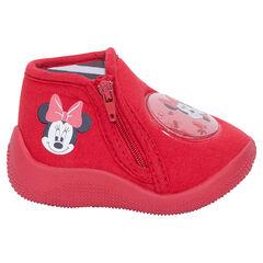 Chaussons bottillons zippés avec patch Disney Minnie
