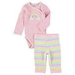 Ensemble naissance body et pantalon