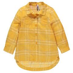 Chemise liquette à carreaux oversize pailletés
