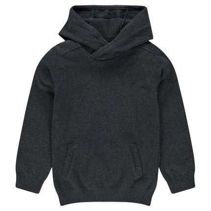 Junior - Pull en tricot à capuche