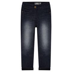 Jeans droit fitté doublé jersey