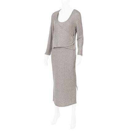 Set robe de grossesse sans manches avec boléro