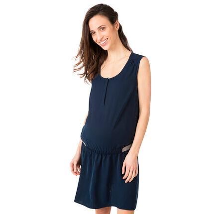 Robe de grossesse sans manches avec élasique brillant