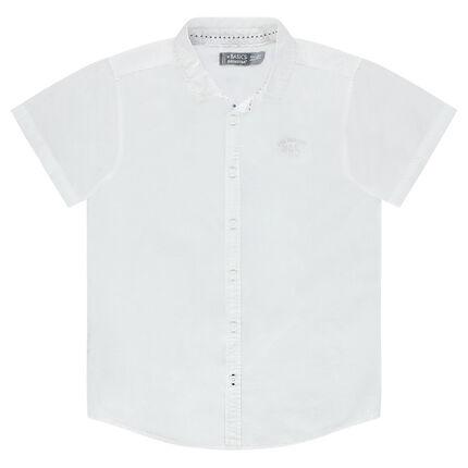 Junior - Chemise manches courtes unie