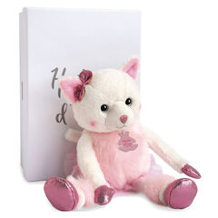 Peluche Misty le chat 25cm - Rose