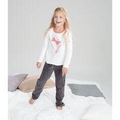 Pyjama en velours bicolore avec princesse printée , Orchestra