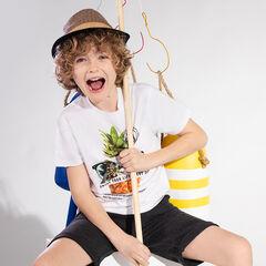 Junior - T-shirt manches courtes en jersey avec ananas printé