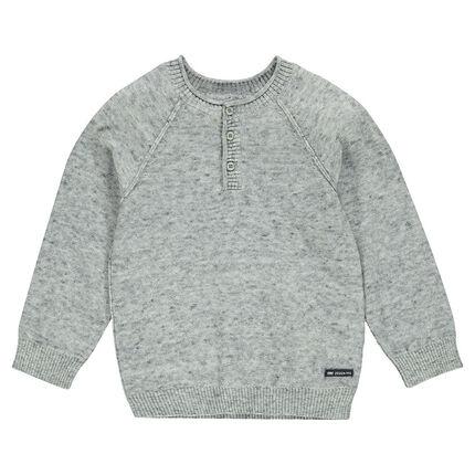 Pull en tricot fin avec col boutonné