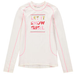 Junior - T-shirt manches longues de ski en jersey gratté
