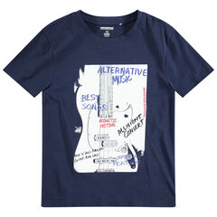 Junior - Tee-shirt manches courtes avec guitare printée