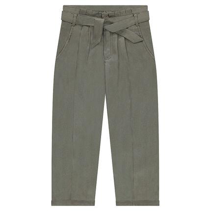 Pantalon fluide en Tencel fourche basse