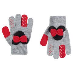 Gants en tricot avec Minnie ©Disney patchée sur le dessus