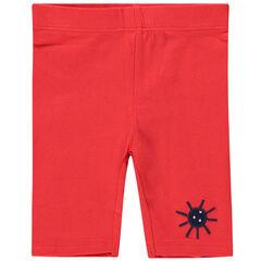 Pantacourt en jersey avec soleil printé