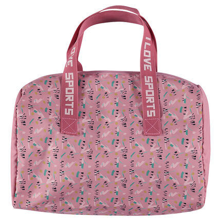 Sac de sport forme bowling imprimé graphique all-over