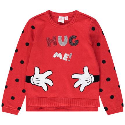 Pull en tricot à pois avec message en sequins Minnie Disney