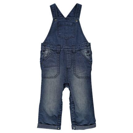 Salopette en jeans effed used doublée jersey