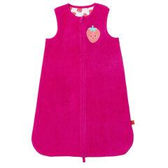 Turbulette éponge doublée jersey avec patch fruit , Prémaman