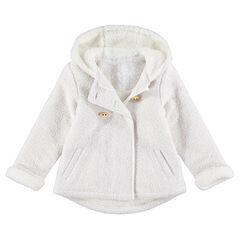 Veste à capuche en molleton doublée sherpa