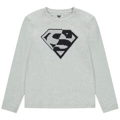 Junior - T-shirt manches longues sequins magiques Superman